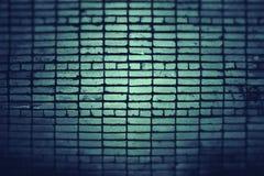 Pared de ladrillo verde fotografía de archivo libre de regalías