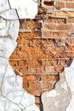 Pared de ladrillo vieja Foto de archivo libre de regalías