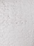 Pared de ladrillos blanca Imágenes de archivo libres de regalías
