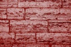 Pared de ladrillos veneciana del yeso, color de aceite del chile Fotografía de archivo libre de regalías