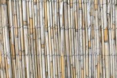 Pared de las barras de bambú imagen de archivo