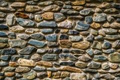 Pared de las piedras del río Foto de archivo