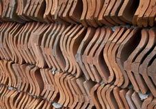 Pared de las tejas de tejado Imagen de archivo libre de regalías