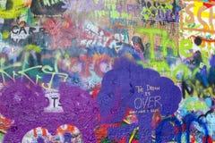 Pared de Lennon imagen de archivo libre de regalías