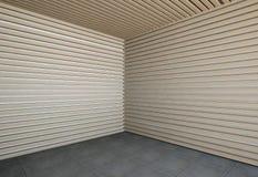 Pared de listones de madera Foto de archivo