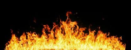 Pared de llamas fotos de archivo