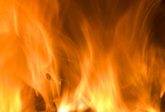 Pared de llamas Fotografía de archivo