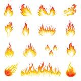 Pared de llamas ilustración del vector