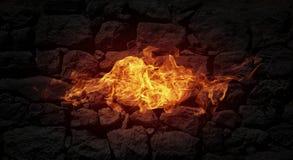 Pared de llamas Imagen de archivo libre de regalías