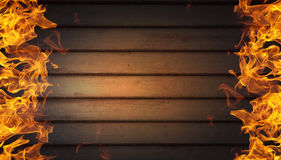 Pared de llamas Foto de archivo libre de regalías