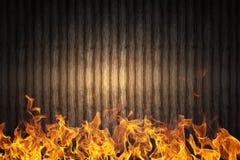 Pared de llamas Fotografía de archivo libre de regalías