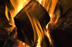 Pared de llamas Imagenes de archivo