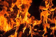 Pared de llamas imágenes de archivo libres de regalías