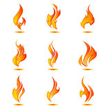 Pared de llamas collage Fotografía de archivo