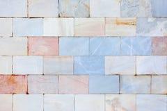 Pared de los azulejos de mármol Textura de Sstone Fondo hermoso en blanco imágenes de archivo libres de regalías