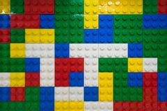 Pared de los bloques de Lego Imagenes de archivo