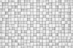 Pared de los cubos blancos Fotografía de archivo libre de regalías