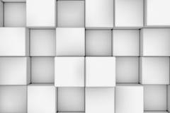 Pared de los cubos blancos abstraiga el fondo Foto de archivo libre de regalías