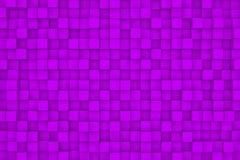 Pared de los cubos violetas Imagen de archivo libre de regalías