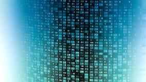 Pared de los datos de la tecnología de la información de Internet stock de ilustración