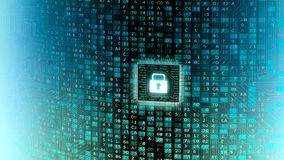 Pared de los datos de la tecnología de la información de Internet asegurado ilustración del vector