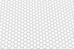 Pared de los hexágonos blancos Fotos de archivo