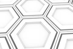 Pared de los hexágonos blancos Foto de archivo libre de regalías