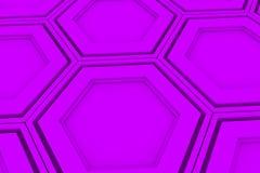 Pared de los hexágonos violetas Foto de archivo