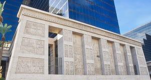 Pared de los jeroglíficos de Luxor Foto de archivo