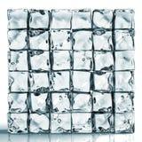 Pared de los ladrillos del cubo de hielo Imagenes de archivo