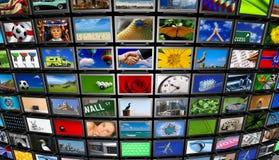 Pared de los multimedia Foto de archivo libre de regalías