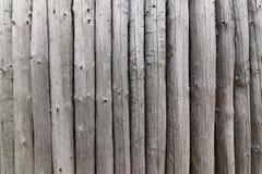 Pared de los polos de madera Fotografía de archivo libre de regalías