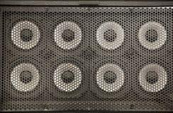 pared de los sonidos del altavoz fotos de archivo libres de regalías