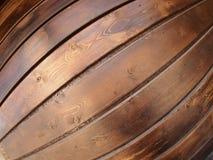 Pared de los tableros de madera con la opinión granangular del fisheye Imágenes de archivo libres de regalías
