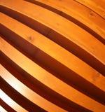Pared de los tableros de madera con la opinión granangular del fisheye Imagen de archivo libre de regalías