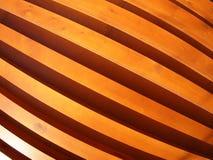 Pared de los tableros de madera con la opinión granangular del fisheye Fotografía de archivo libre de regalías