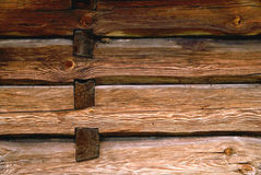 Pared de madera Foto de archivo