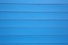 Pared de madera azul Fotografía de archivo
