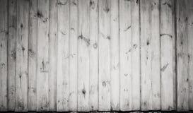 Pared de madera blanca sucia vieja, textura frontal foto de archivo libre de regalías
