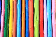 Pared de madera colorida Imagen de archivo libre de regalías
