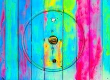 Pared de madera colorida Fotos de archivo