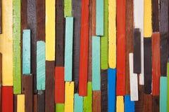 Pared de madera colorida Fotografía de archivo