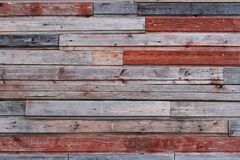 Pared de madera colorida vieja Imágenes de archivo libres de regalías