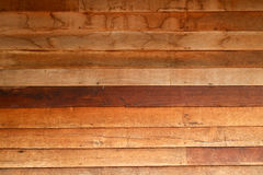 Pared de madera de Chiangkhan Fotos de archivo libres de regalías