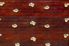 Pared de madera de la escalada detalladamente Imagen de archivo libre de regalías