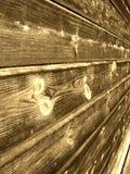 Pared de madera de la vendimia Imagen de archivo