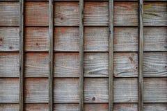 Pared de madera de una casa tradicional japonesa Imágenes de archivo libres de regalías