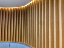 Pared de madera decorativa Foto de archivo
