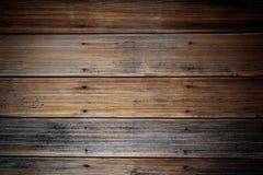 pared de madera del tablón marrón Imágenes de archivo libres de regalías