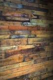 Pared de madera dentro Foto de archivo libre de regalías